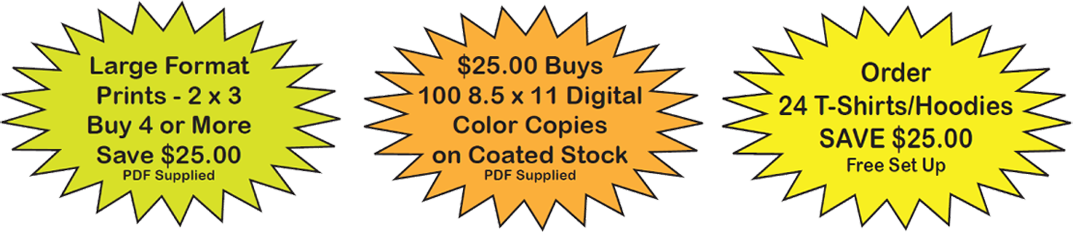 Empire Printing - Current Specials